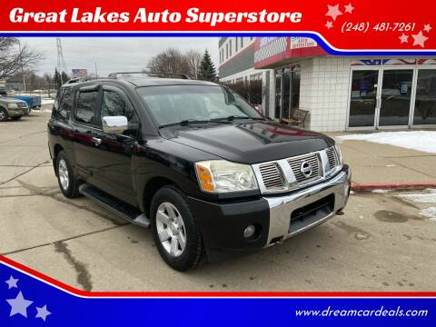 2004 Nissan Armada for sale at Great Lakes Auto Superstore in Pontiac MI