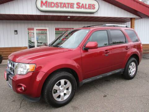 2012 Ford Escape for sale at Midstate Sales in Foley MN