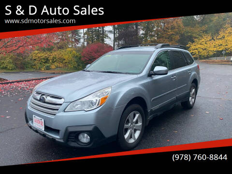 2013 Subaru Outback for sale at S & D Auto Sales in Maynard MA