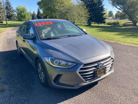 2018 Hyundai Elantra for sale at BELOW BOOK AUTO SALES in Idaho Falls ID