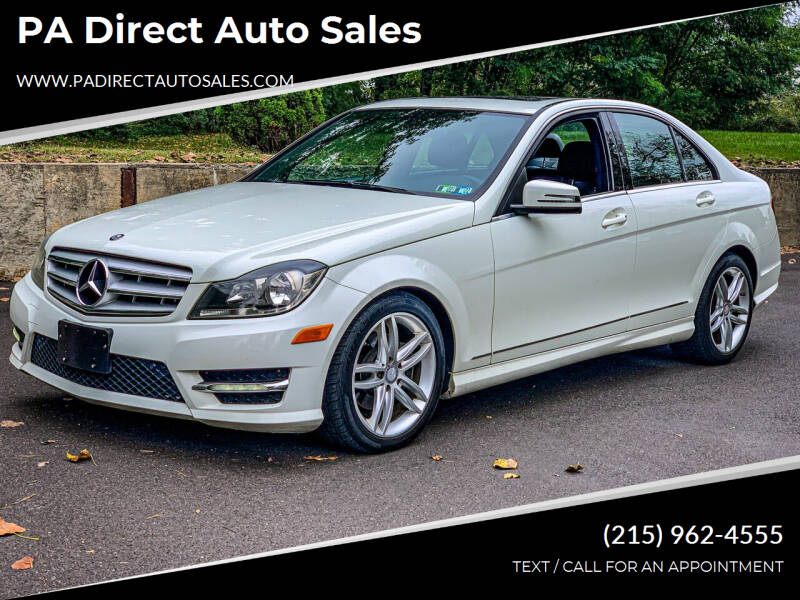 2012 Mercedes-Benz C-Class for sale at PA Direct Auto Sales in Levittown PA