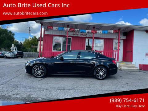2017 Maserati Ghibli for sale at Auto Brite Used Cars Inc in Saginaw MI