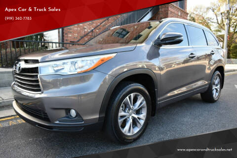 2015 Toyota Highlander for sale at Apex Car & Truck Sales in Apex NC