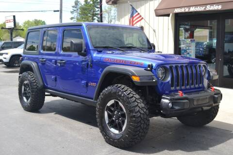 2019 Jeep Wrangler Unlimited for sale at Nick's Motor Sales LLC in Kalkaska MI