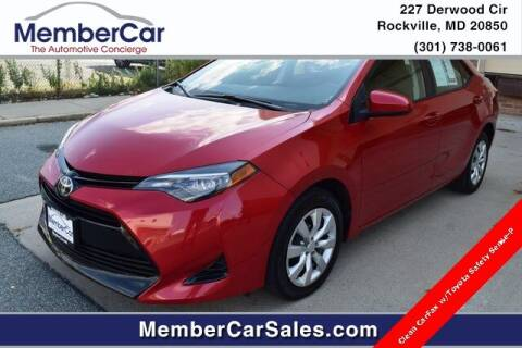 2018 Toyota Corolla for sale at MemberCar in Rockville MD