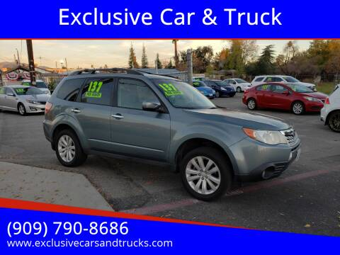 2012 Subaru Forester for sale at Exclusive Car & Truck in Yucaipa CA