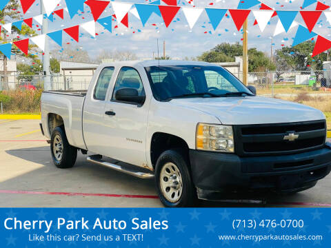 2010 Chevrolet Silverado 1500 for sale at Cherry Park Auto Sales in Houston TX