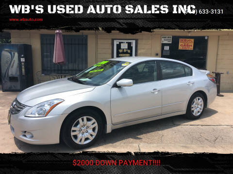 2010 Nissan Altima for sale at WB'S USED AUTO SALES INC in Houston TX