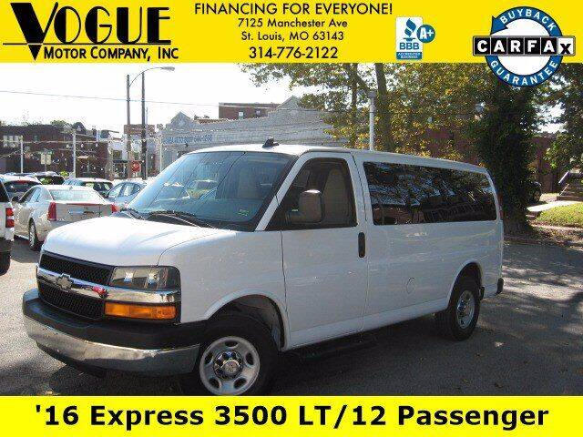 2016 Chevrolet Express Passenger for sale at Vogue Motor Company Inc in Saint Louis MO