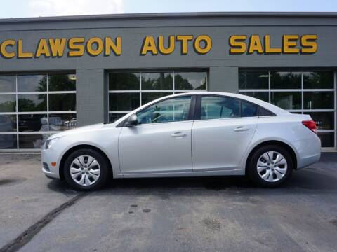 2012 Chevrolet Cruze for sale at Clawson Auto Sales in Clawson MI