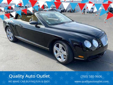 2007 Bentley Continental for sale at Quality Auto Outlet in Vista CA