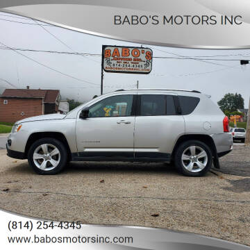 2011 Jeep Compass for sale at BABO'S MOTORS INC in Johnstown PA