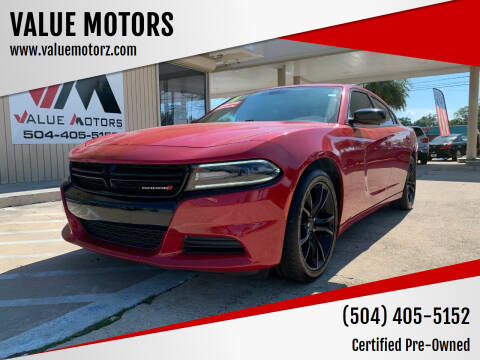 2016 Dodge Charger for sale at VALUE MOTORS in Kenner LA