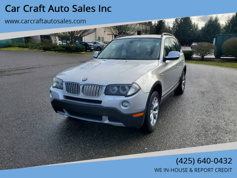2010 BMW X3 for sale at Car Craft Auto Sales Inc in Lynnwood WA