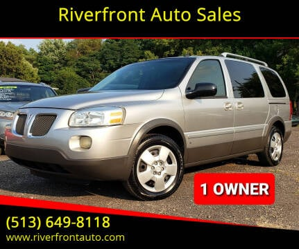 2006 Pontiac Montana SV6 for sale at Riverfront Auto Sales in Middletown OH