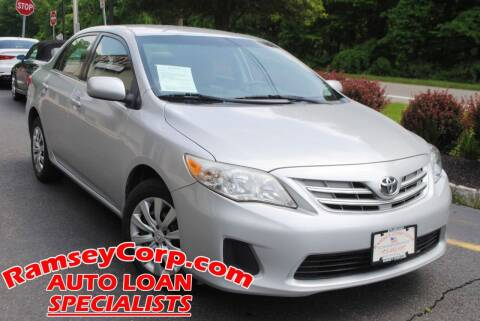 2013 Toyota Corolla for sale at Ramsey Corp. in West Milford NJ