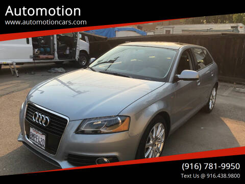 2012 Audi A3 for sale at Automotion in Roseville CA