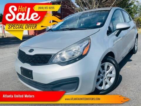 2012 Kia Rio for sale at Atlanta United Motors in Buford GA