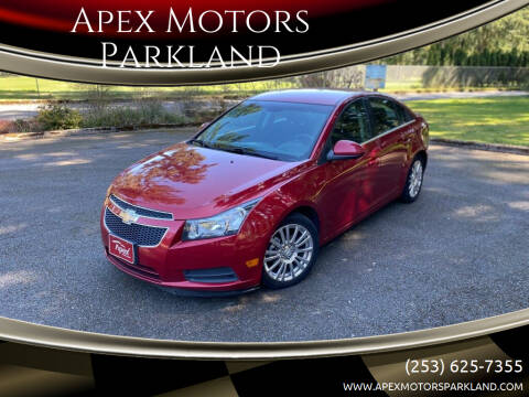 2012 Chevrolet Cruze for sale at Apex Motors Parkland in Tacoma WA