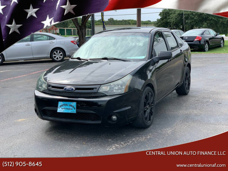 2010 Ford Focus for sale at Central Union Auto Finance LLC in Austin TX