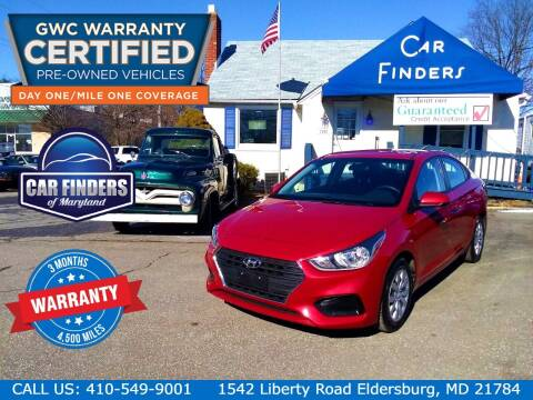 2018 Hyundai Accent for sale at CAR FINDERS OF MARYLAND LLC - Certified Cars in Eldersburg MD