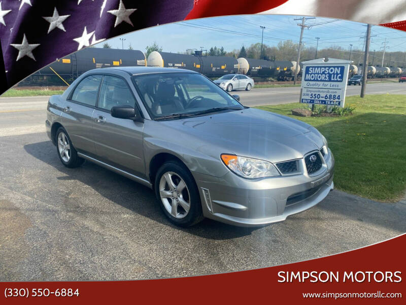 2007 Subaru Impreza for sale at SIMPSON MOTORS in Youngstown OH