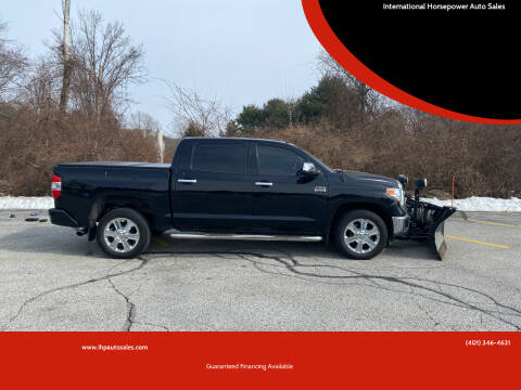 2015 Toyota Tundra for sale at International Horsepower Auto Sales in Warwick RI