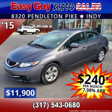 2015 Honda Civic for sale at Easy Guy Auto Sales in Indianapolis IN