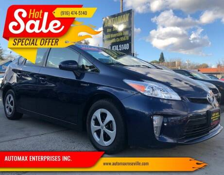 2013 Toyota Prius for sale at AUTOMAX ENTERPRISES INC. in Roseville CA