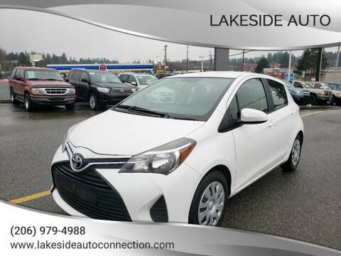2015 Toyota Yaris for sale at Lakeside Auto in Lynnwood WA