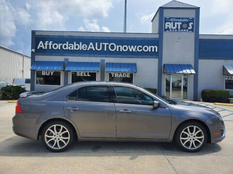 2012 Ford Fusion for sale at Affordable Autos in Houma LA