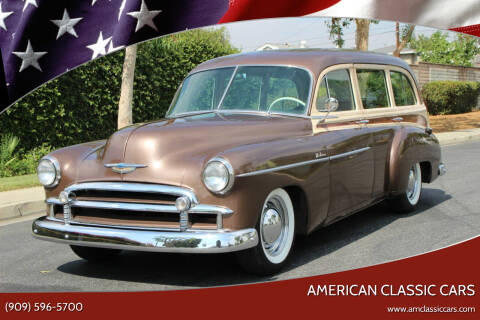 1950 Chevrolet Styleline Deluxe Tin Woody for sale at American Classic Cars in La Verne CA
