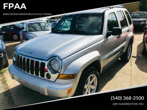 2006 Jeep Liberty for sale at FPAA in Fredericksburg VA