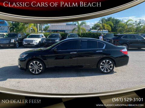 2015 Honda Accord for sale at Classic Cars of Palm Beach in Jupiter FL