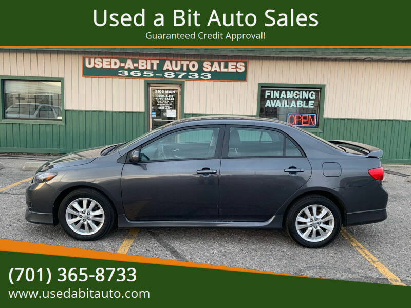 2010 Toyota Corolla for sale at Used a Bit Auto Sales in Fargo ND