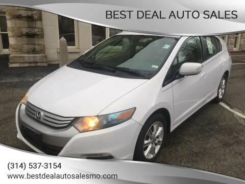 2010 Honda Insight for sale at Best Deal Auto Sales in Saint Charles MO