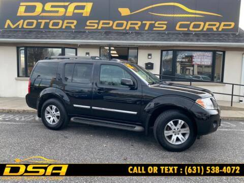 2012 Nissan Pathfinder for sale at DSA Motor Sports Corp in Commack NY
