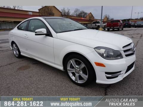 2013 Mercedes-Benz C-Class for sale at Auto Q Car and Truck Sales in Mauldin SC
