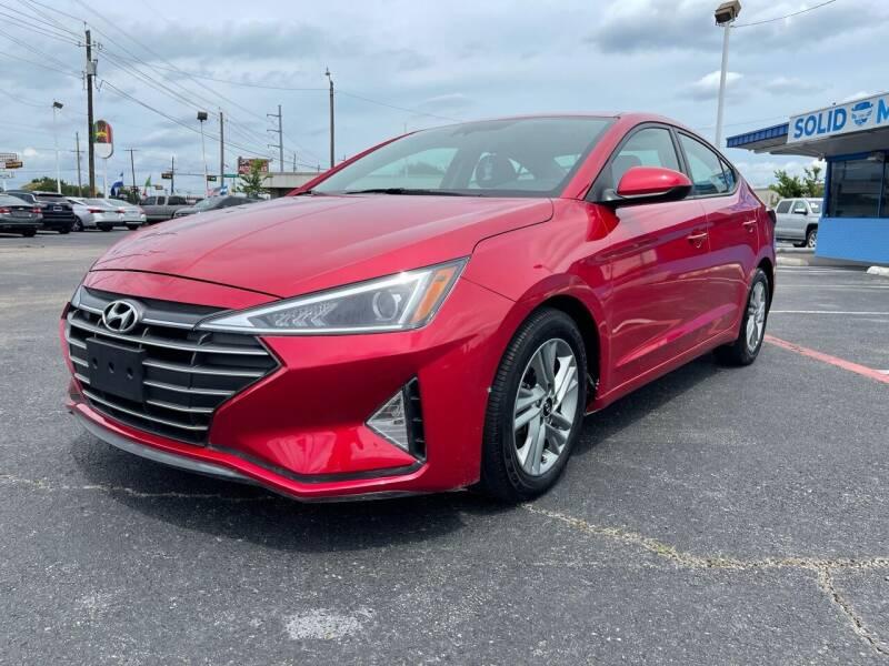 2020 Hyundai Elantra for sale at SOLID MOTORS LLC in Garland TX