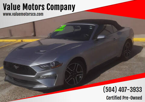 2020 Ford Mustang for sale at Value Motors Company in Marrero LA