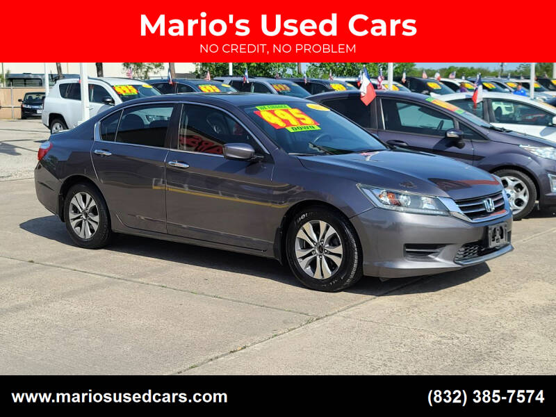 2015 Honda Accord for sale at Mario's Used Cars in Houston TX