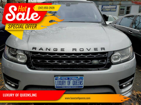 2017 Land Rover Range Rover Sport for sale at LUXURY OF QUEENS,INC in Long Island City NY