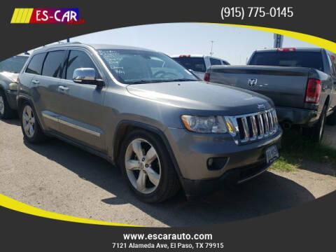 2012 Jeep Grand Cherokee for sale at Escar Auto in El Paso TX