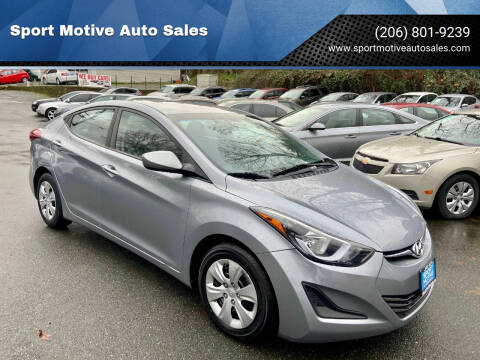 2016 Hyundai Elantra for sale at Sport Motive Auto Sales in Seattle WA