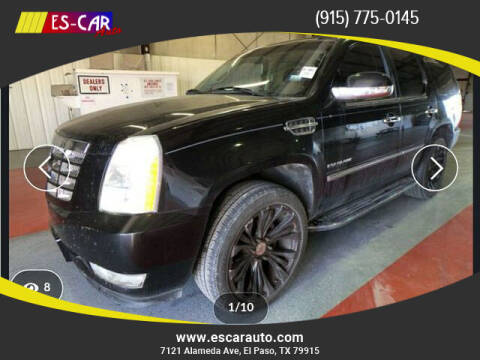 2012 Cadillac Escalade for sale at Escar Auto in El Paso TX
