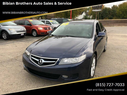 2008 Acura TSX for sale at Bibian Brothers Auto Sales & Service in Joliet IL