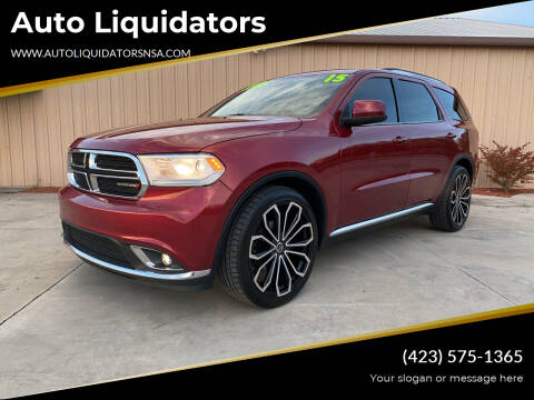 2015 Dodge Durango for sale at Auto Liquidators in Bluff City TN