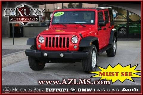 2018 Jeep Wrangler JK Unlimited for sale at Luxury Motorsports in Phoenix AZ