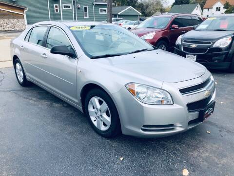 2008 Chevrolet Malibu for sale at SHEFFIELD MOTORS INC in Kenosha WI