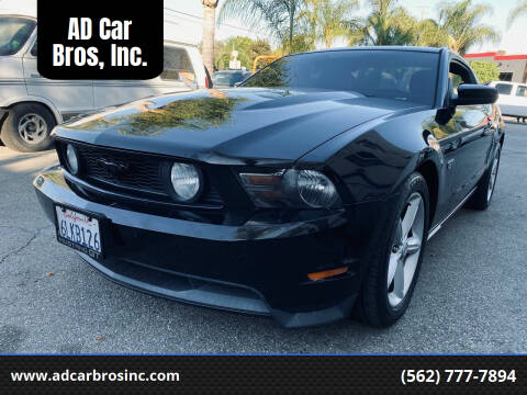 2010 Ford Mustang for sale at AD Car Bros, Inc. in Whittier CA